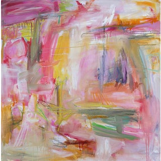 "Trixie Pitts ""Hot & Humid"" Large Abstract Oil Painting"