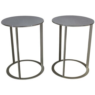Antonio Citterio Steel Side Tables - A Pair
