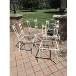 Image of Vintage Wrought Iron Chairs - Set of 4