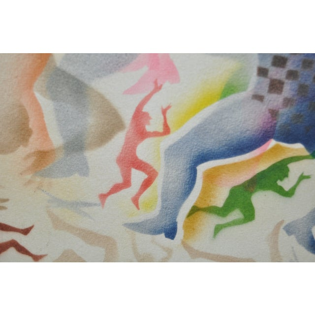 Image of Mid-Century Modern Airbrush Painting by McBride
