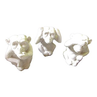 """Hear No, Speak No, See No Evil"" Monkey Statues - Set of 3"