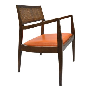 Vintage Mid Century Modern Jens Risom Playboy Walnut Chair