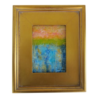 Gold Framed Abstract Landscape Painting