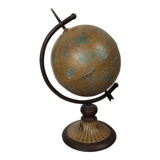Vintage Rustic Globe on Stand