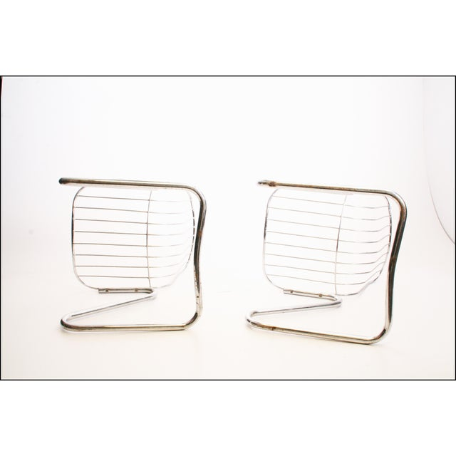 Vintage Italian Chrome Metal Dining Chairs - Set of 4 - Image 11 of 11