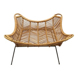 Large Rattan & Iron Coffee Table In Style Of Janine Abraham & Dirk Jan Rol
