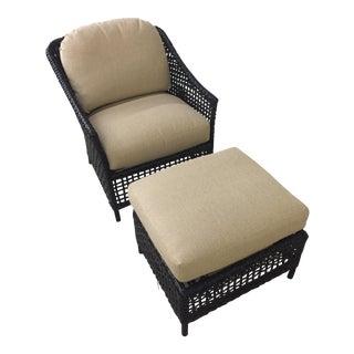 Lane Venture Platinum Chair & Ottoman