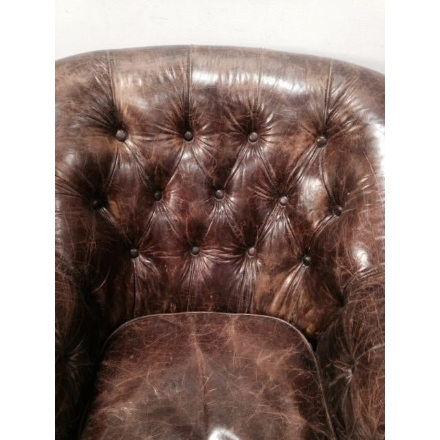Leather Club Chairs - Pair - Image 5 of 11