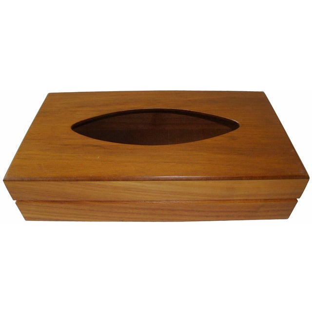 Image of Mid-Century Gruvwood Tissue Box Cover
