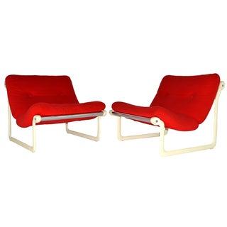 Hannah Morrison Knoll Sling Chairs - A Pair