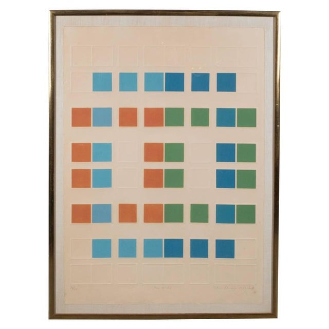 "Mid-Century Arlene Sherman ""Five of Six"" Lithograph Printed in Colors, 1969 - Image 8 of 8"