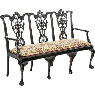 Antique Chippendale Mahogany Settee