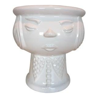 Vintage Scandinavian Face Vase Planter