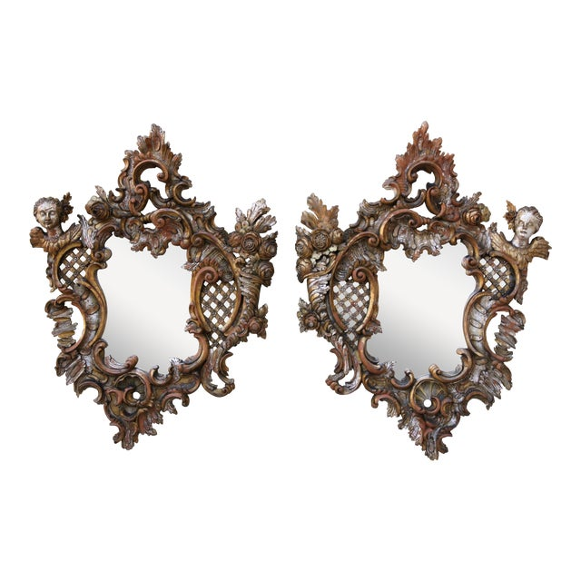 Italian Baroque Style Mirrors - A Pair - Image 1 of 9