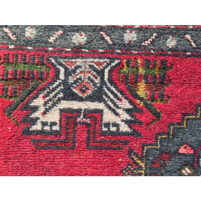 "Vintage Red Anatolian Persian Rug - 1'9"" x 3'3"" - Image 4 of 8"