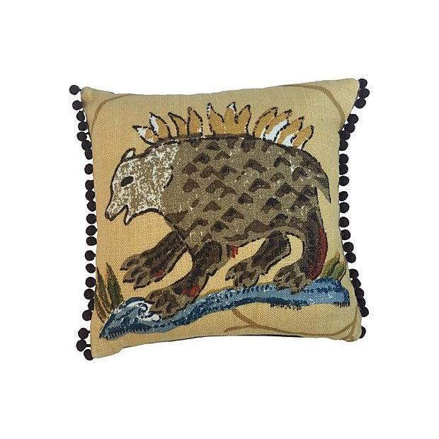 La Menagerie Animal Motif Pillows - A Pair - Image 3 of 4