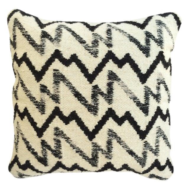 Image of Black & Ivory Wool Pillow