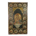 Image of Antique Hand-Painted Wooden Ganesha Wall Panel