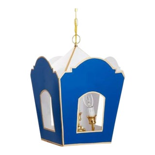 Dana Gibson Moroccan Style Solid Navy Lantern