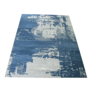 "Abstract Art Blue Rug - 5'3"" x7'7"""