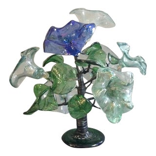 Antique Murano Wire Glass Flower Arrangement