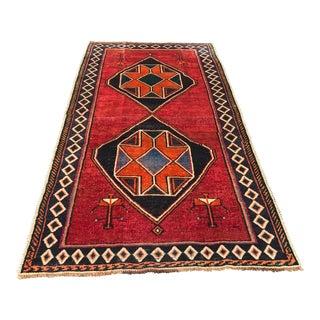 "Vintage Persian Qashghi - 4' x 7'6"""
