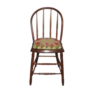 Antique Bentwood & Needlepoint Chair