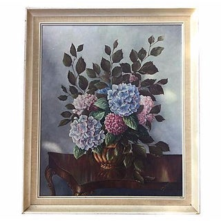 Still Life Painting of Hydrangeas