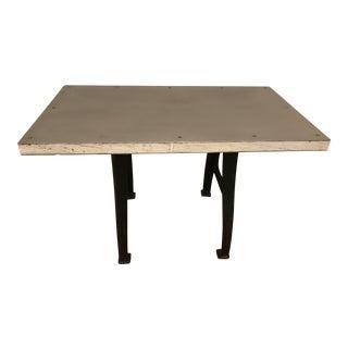 Custom Metal & Wood Industrial Feel Dining Table