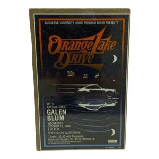 """1980 Vintage """"Orange Lake Drive"""" Concert Poster"""