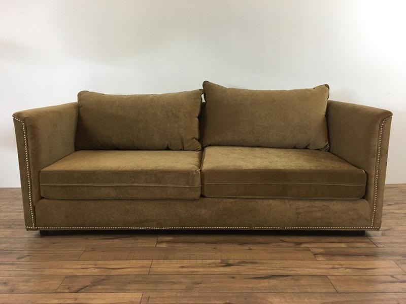 Mid Century Modern Style Two Cushion Sofa   Image 2 Of 6