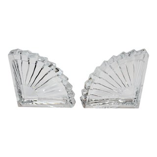 Lead Crystal Bookends- A Pair