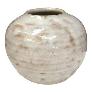 White Glazed Stoneware Studio Pot