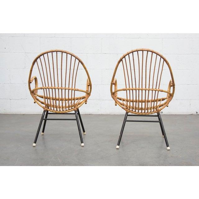 Rohe Noordwolde Bamboo Hoop Chairs - Pair - Image 4 of 8