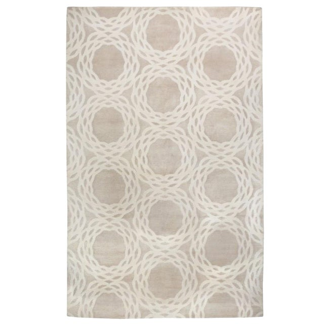 """Image of Cococozy Tan """"Oxford"""" Wool Rug - 8' x 11'"""
