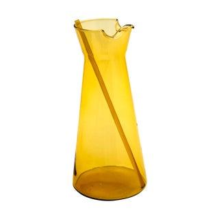 Holmegaard Amber Glass Pitcher