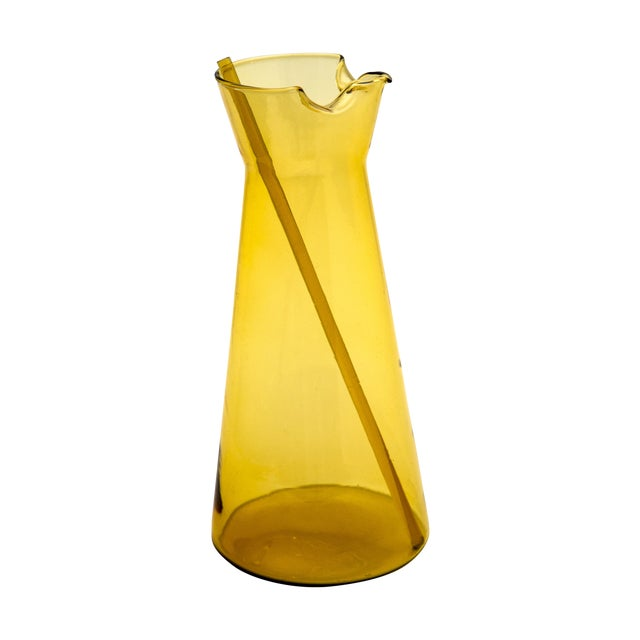 Holmegaard Amber Glass Pitcher - Image 1 of 6