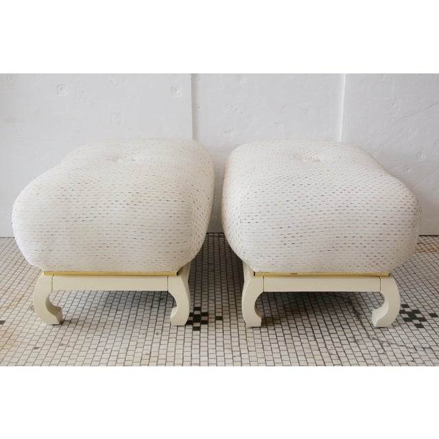 Asian James Mont-Style Poufs - A Pair - Image 5 of 5