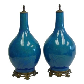 19th Century Chinese Vase Lamps - Pair