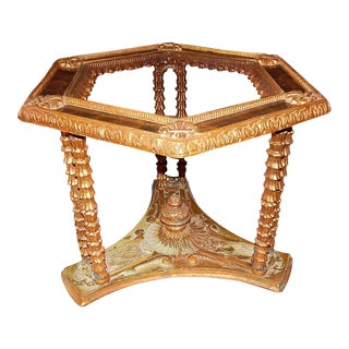 Italian Neoclassical Style Gilt Metal Hexagonal Side Table