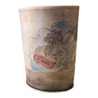 Handmade Bird & Floral Motif Ceramic Vase