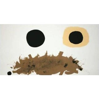 "Adolph Gottlieb ""Ochre and Black"" Large Screen Print"