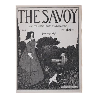 "Antique Engraving From ""The Savoy""-London-1896-Aubrey Beardsley"