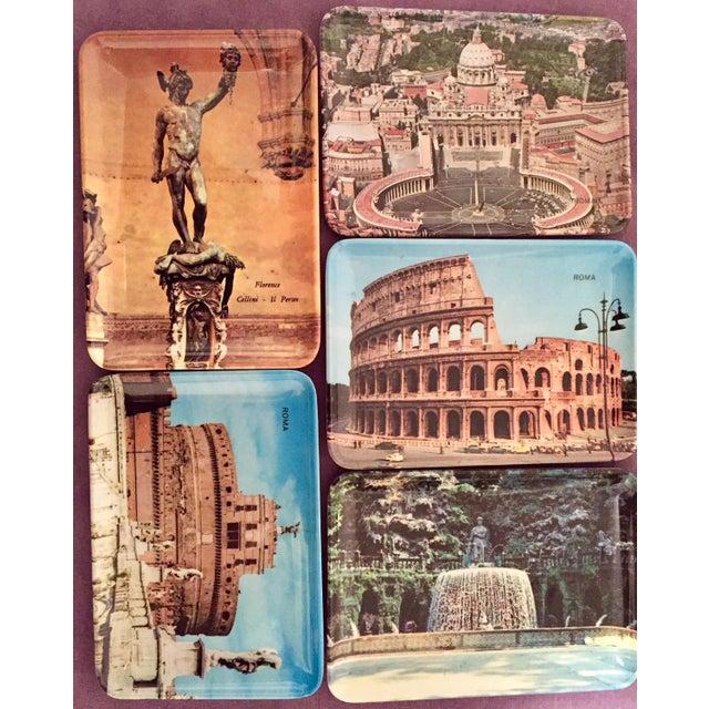 Vintage Mebel Melamine Italian Souvenir Tip Trays - Set of 5 - Image 3 of 11