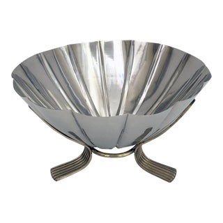 Fluted Stainless Steel Centerpiece Bowl