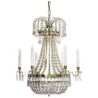 Empire 6 Polished Brass Octagon Chandelier