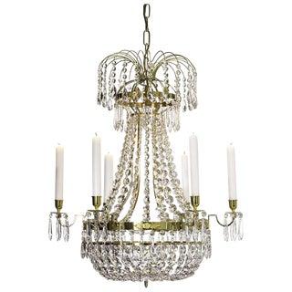 Empire 6 Polished Brass Octagon Chandelier