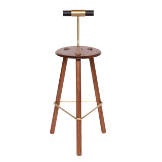 Customizable Erickson Aesthetics Walnut Stool