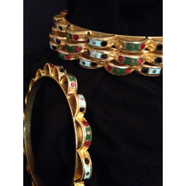Image of Art Deco Gold & Enamel Bangles - Set of 4