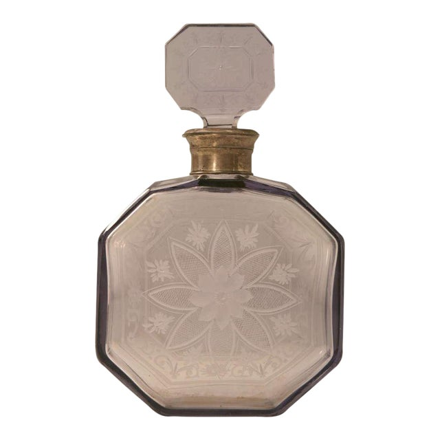 Antique French Engraved Perfume Decanter - Image 1 of 10